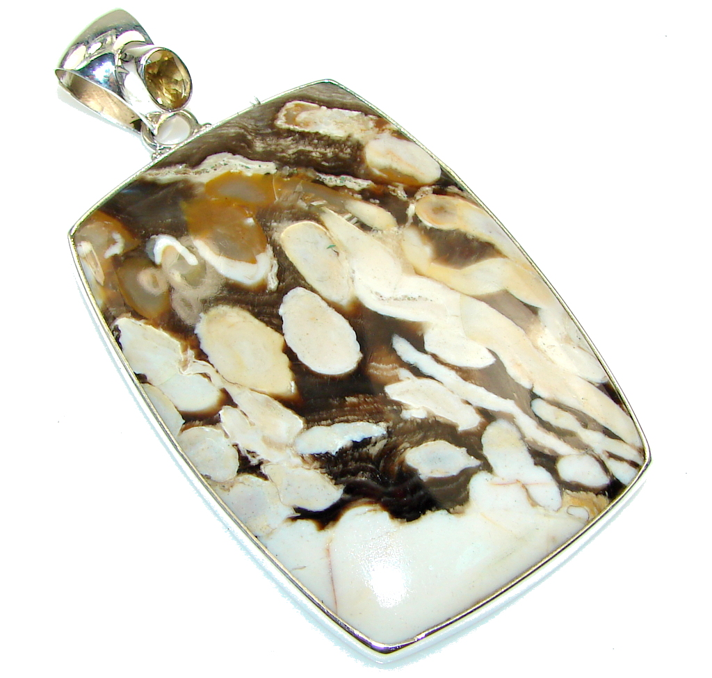 Big! Awesome!! Nugget Jasper Sterling Silver Pendant