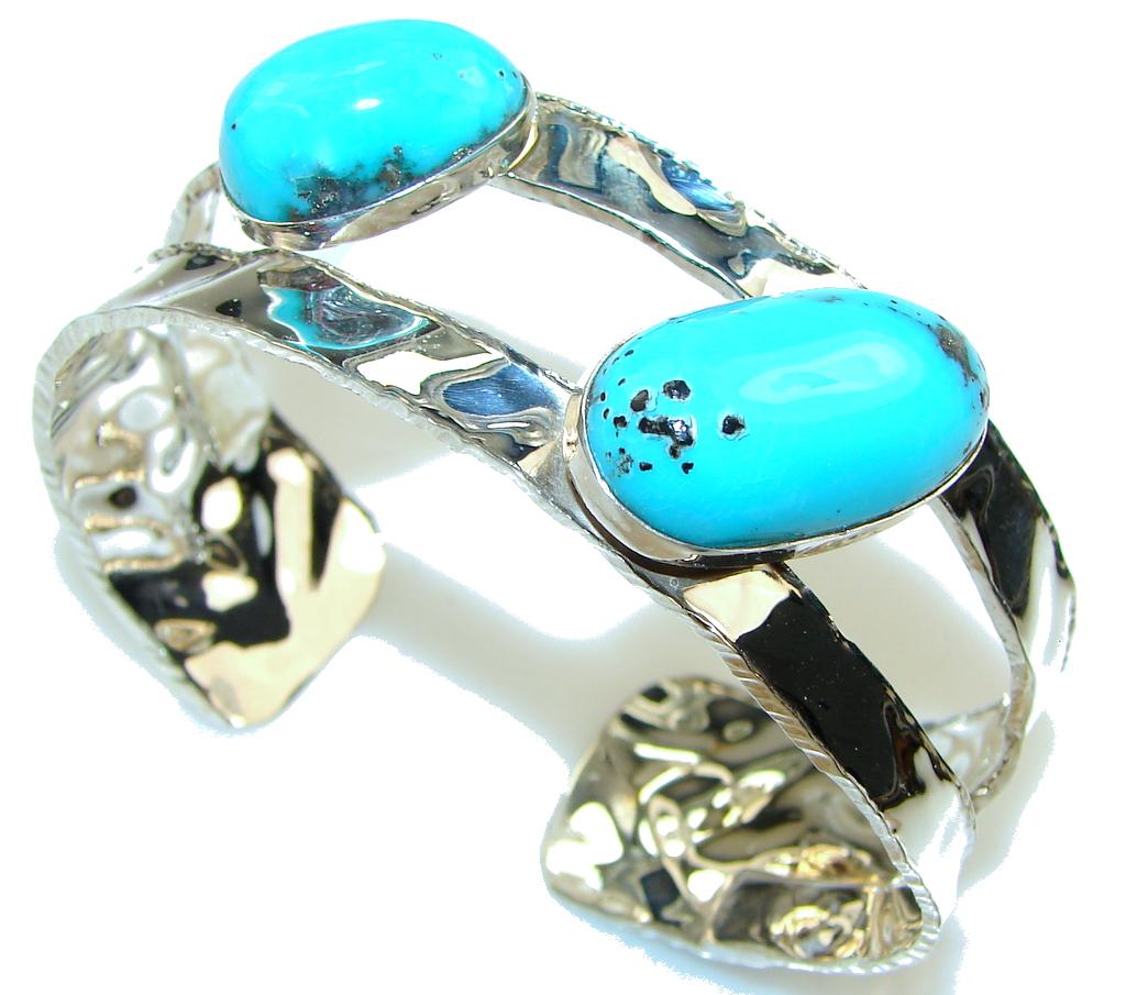Sleeping Beauty! Blue Turquoise Sterling Silver Bracelet / Cuff