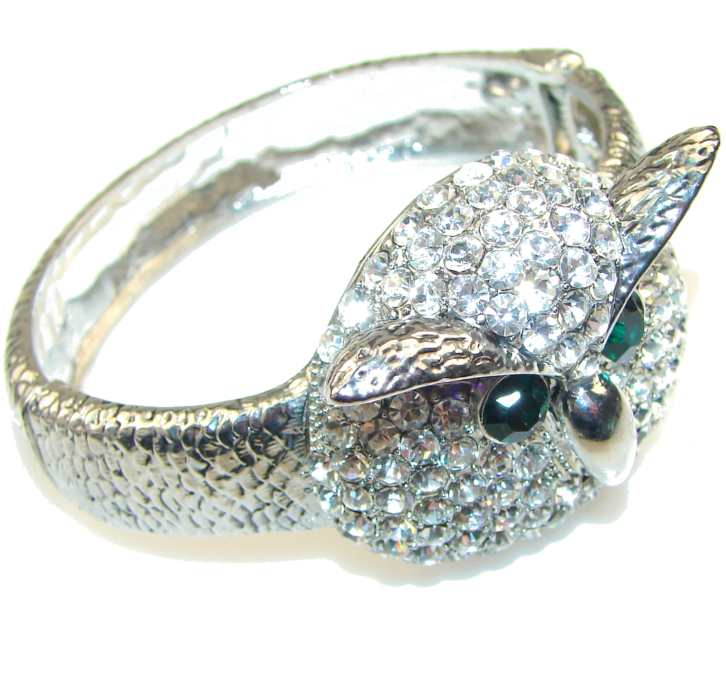 Fashion Crystal Owl Silver...