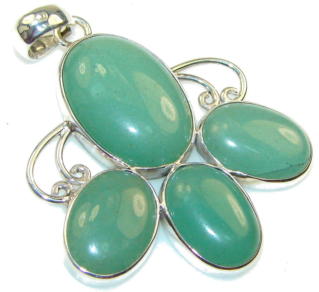 Green Island! Jade Sterling Silver Pendant