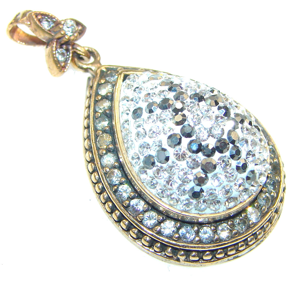 marcassite.com view the photo of  Secret!! White Topaz Sterling Silver pendant