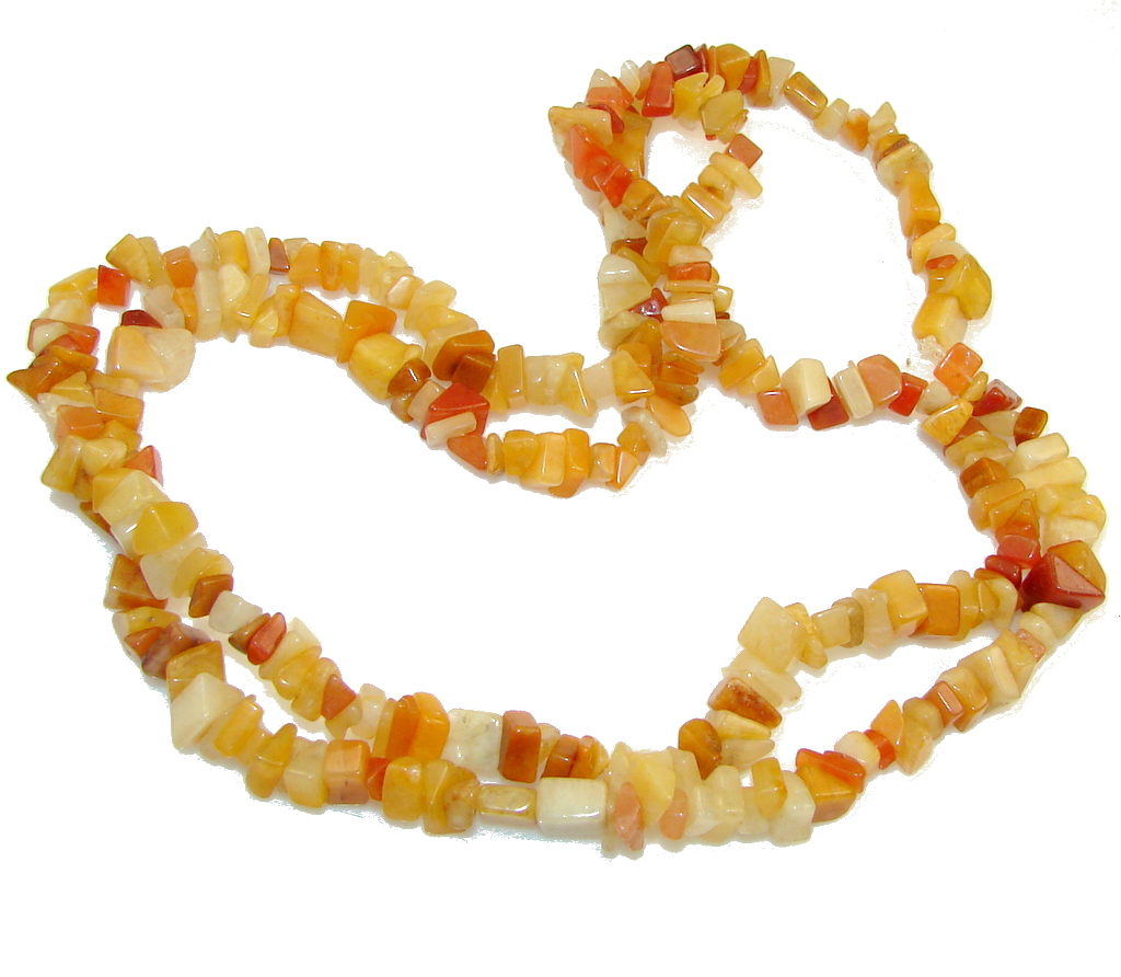 Excellent!! Carnelian Beads Strand Necklace