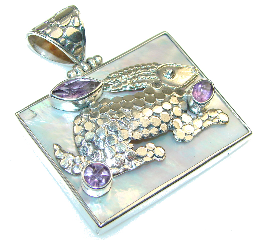 Amazing Design!! Blister Pearl Sterling Silver pendant