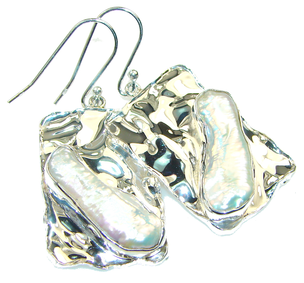Delicate!! Mother of Pearl Sterling Silver earrings