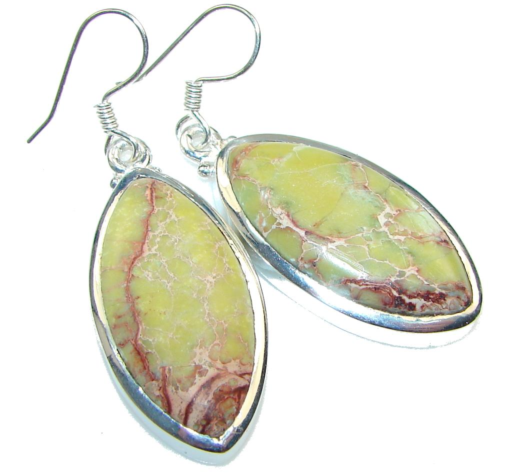 Image of Classy!! Sea Sediment Jasper Sterling Silver earrings