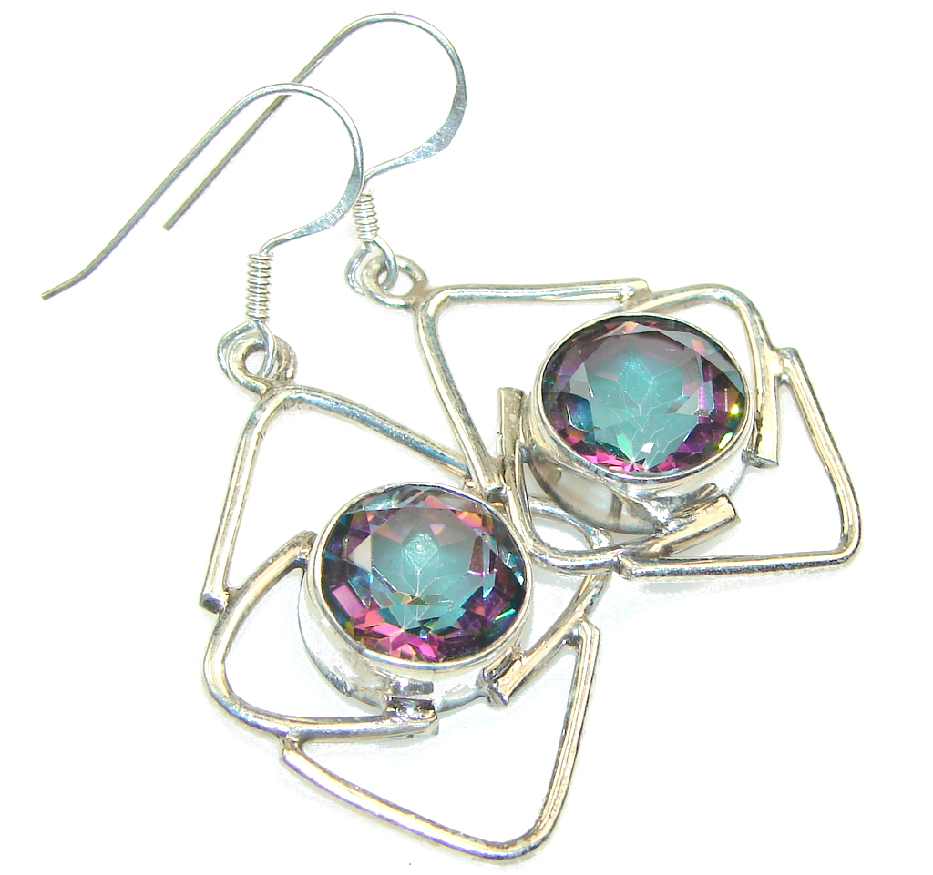 Amazing!! Rainbow Magic Topaz Sterling Silver earrings