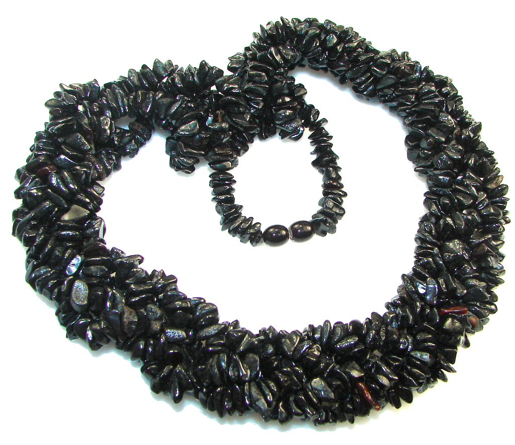 Amazing 5 line Genuine Dark Baltic Polish Amber necklace