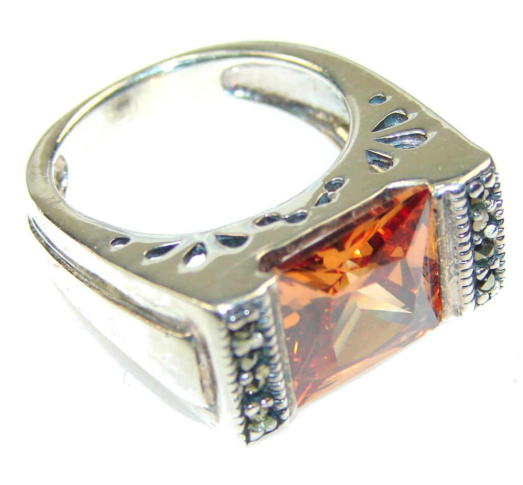 marcassite.com Perfect!! Honey Topaz Quartz Sterling Silver ring s. 6