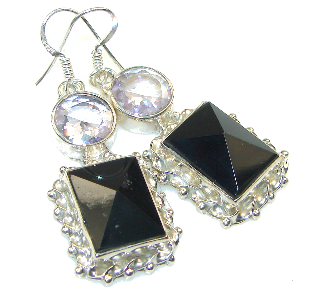 Big Dreamer! Black Onyx Sterling Silver earrings