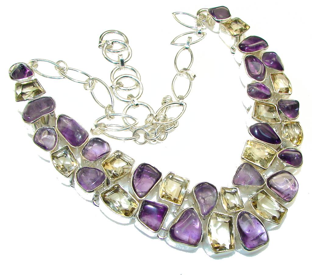 Falling In Love!! Purple Amethyst Sterling Silver necklace