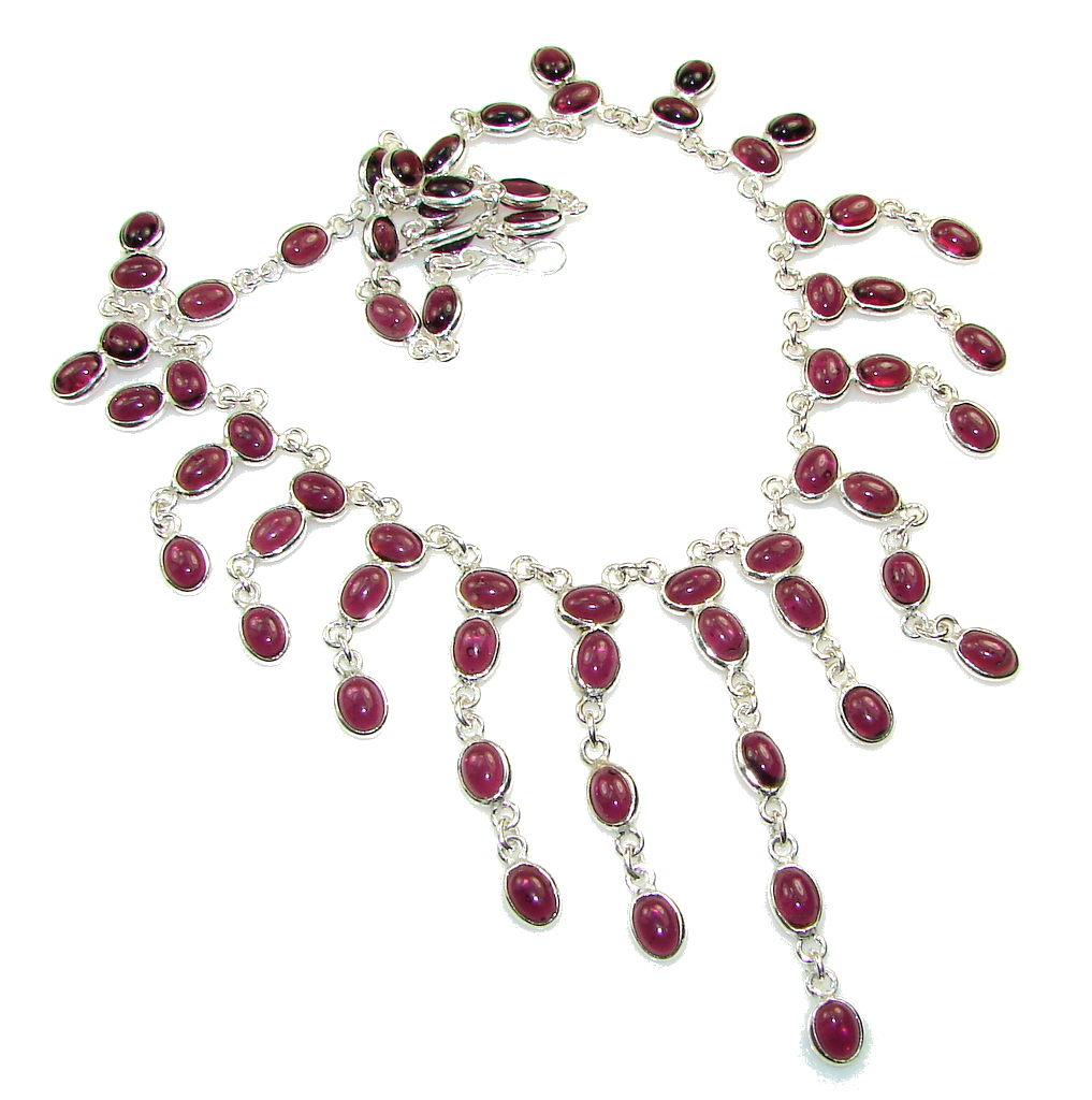Love Attraction!! Purple Tourmaline Sterling Silver necklace