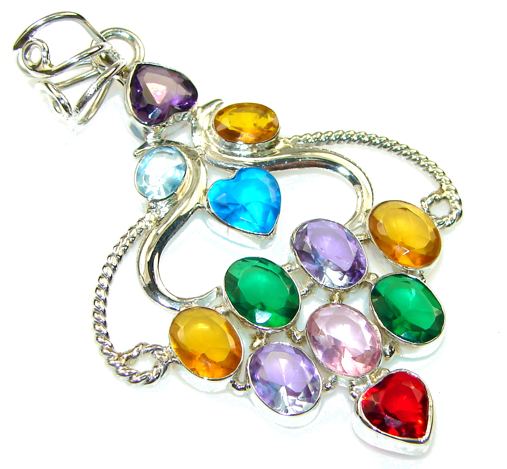 Image of Aura Of Beauty!! Multistone Sterling Silver Pendant
