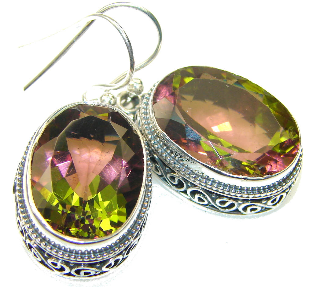 Amazing!! Color Changing Quartz Sterling Silver earrings
