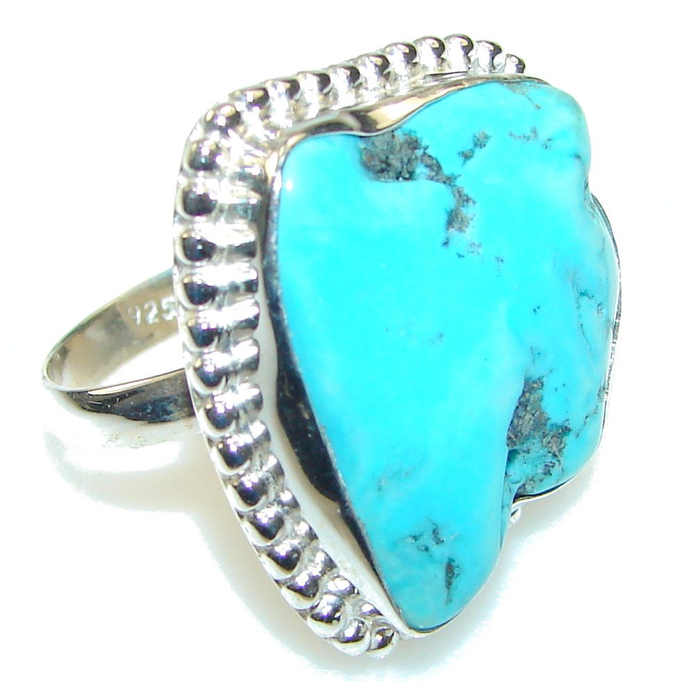 Blue Ithaca Peak Turquoise Sterling Silver Ring s. 9