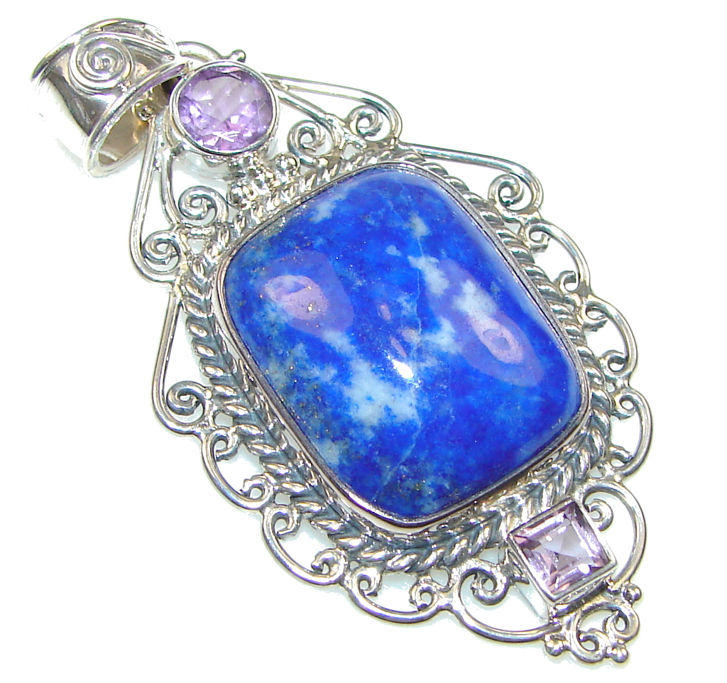 Secret! Blue Sodalite Sterling Silver Pendant