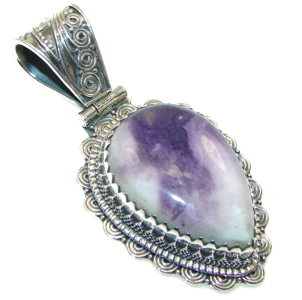 Beautiful Purple Tiffany Jasper Sterling Silver Pendant