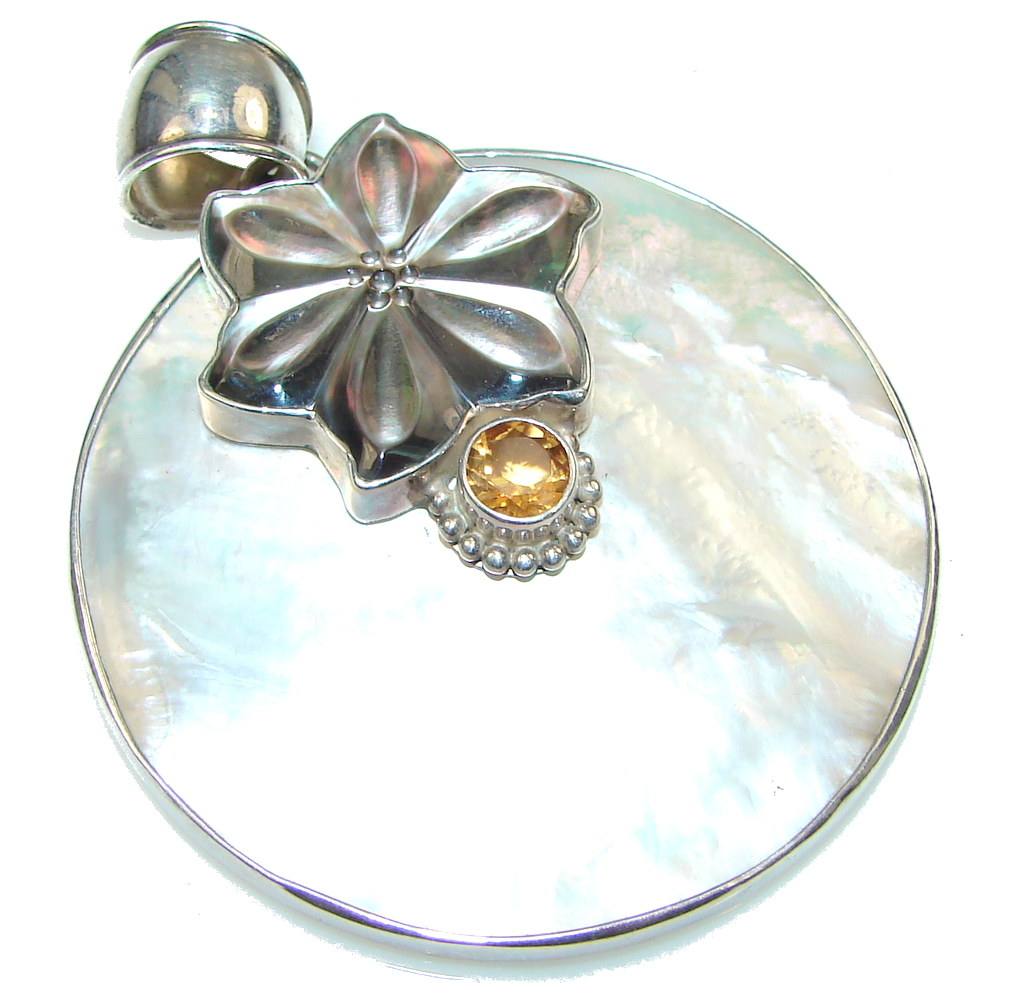 jewelpearl.com Large! Delicate Blister Pearl Sterling Silver pendant
