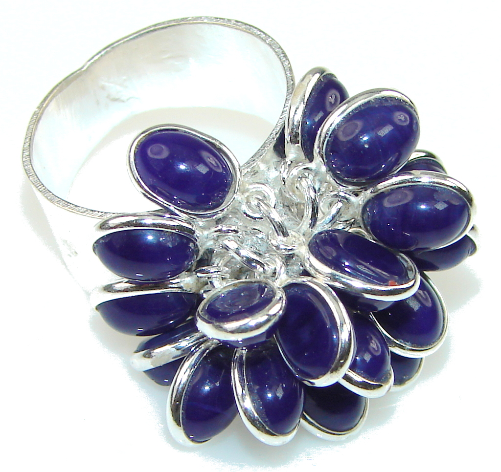 Created Deep Sapphire Sterling Silver ring s. 7