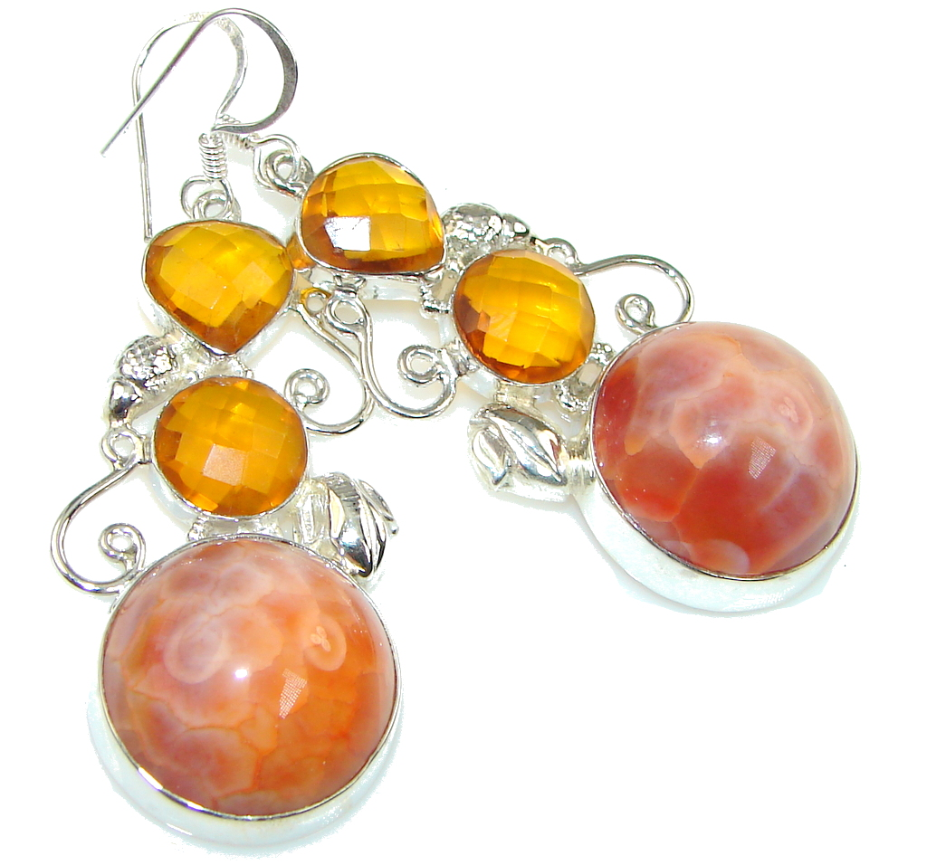 Instant Classic! Orange Mexican Fire Agate Sterling