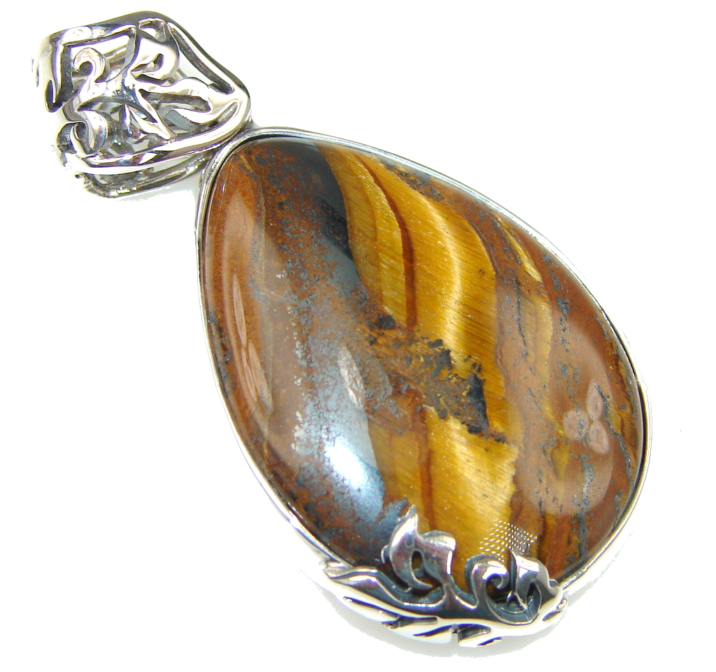 Image of Brown Vision Tigers Eye Sterling Silver Pendant