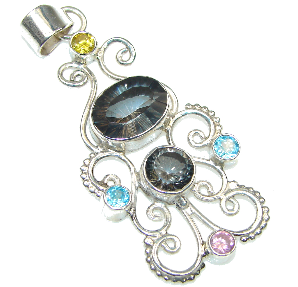 Bali Secret! Smoky Topaz Sterling Silver Pendant