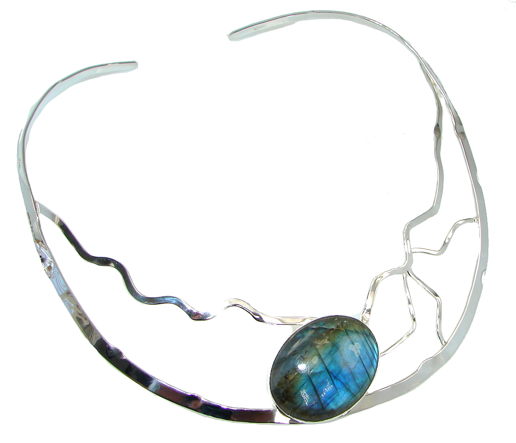 Falling In Love! Labradorite Sterling Silver necklace / Choker