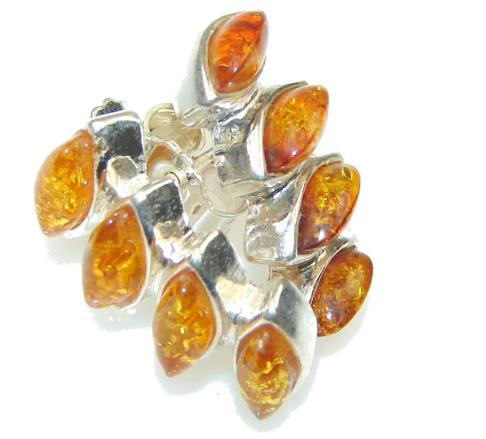 Secret! Polish Baltic Amber Sterling Silver earrings