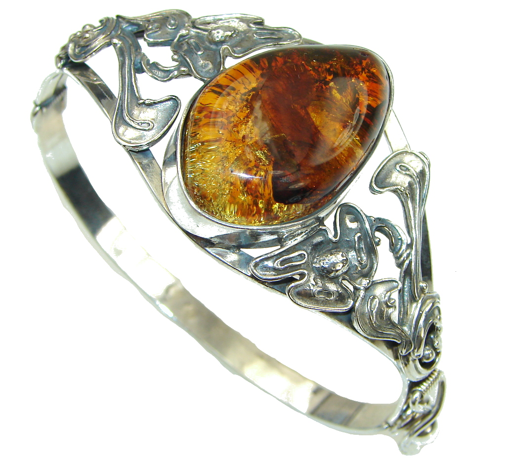 Bali Secret! Baltic Polish Amber Sterling Silver Bracelet