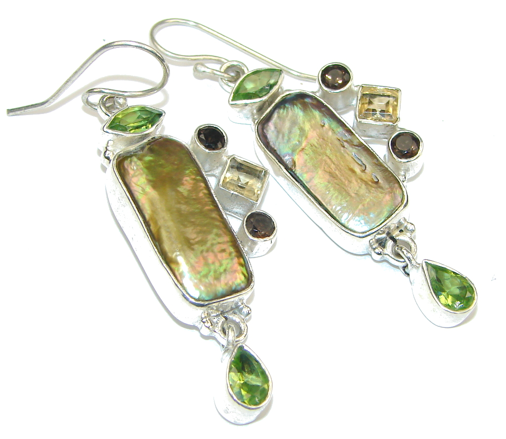 Forest Quest! Mother of Pearl Sterling Silver earrings
