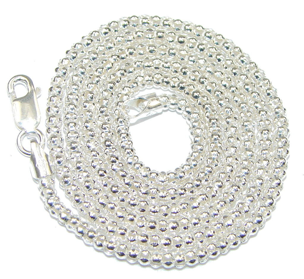 Image of Coreana Sterling Silver Chain 20'' long, 1.5 mm wide