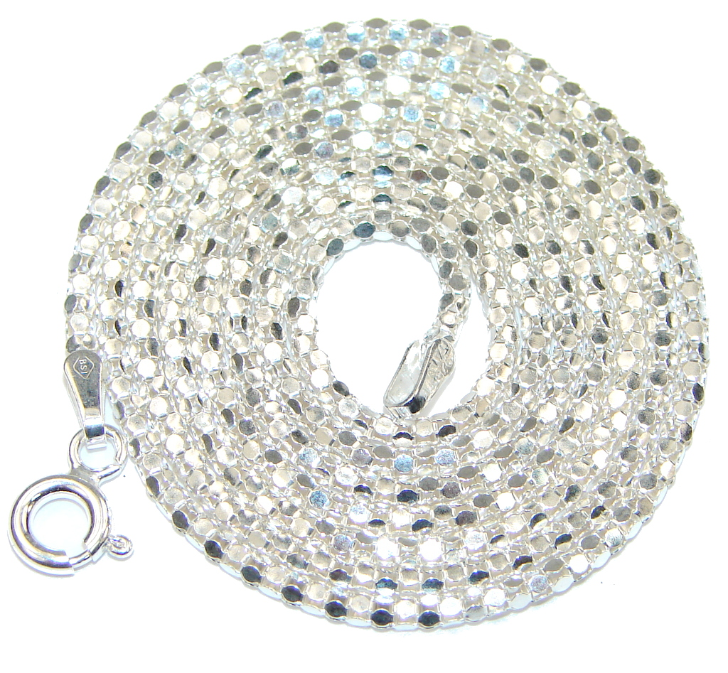 Image of Coreana Sterling Silver Chain 24'' long, 1.5 mm wide