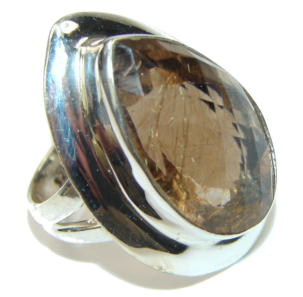 Upcoming Storm! Brown Smoky Topaz Sterling Silver ring s. 7 1/4