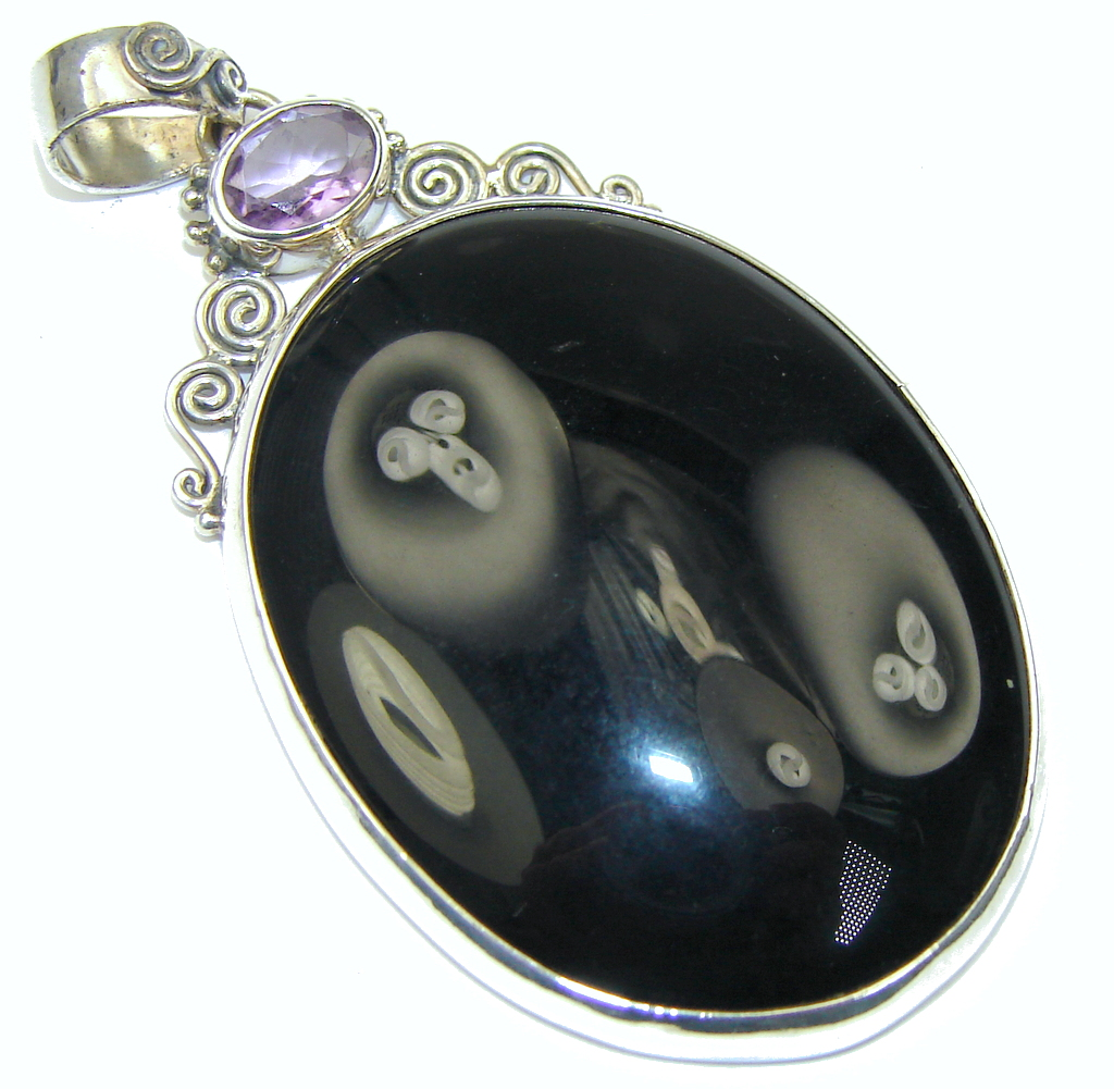Bali Secret! Black Onyx Sterling Silver Pendant