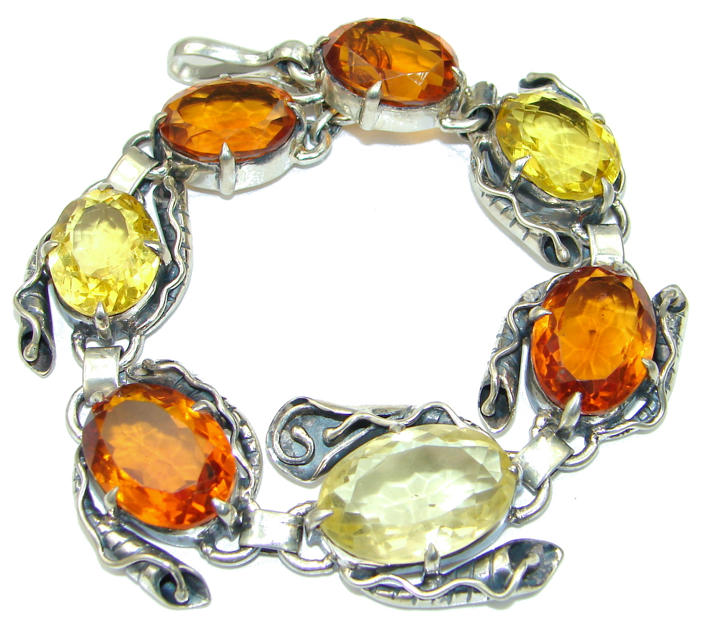 Evening Tide! Golden Topaz Sterling Silver Bracelet