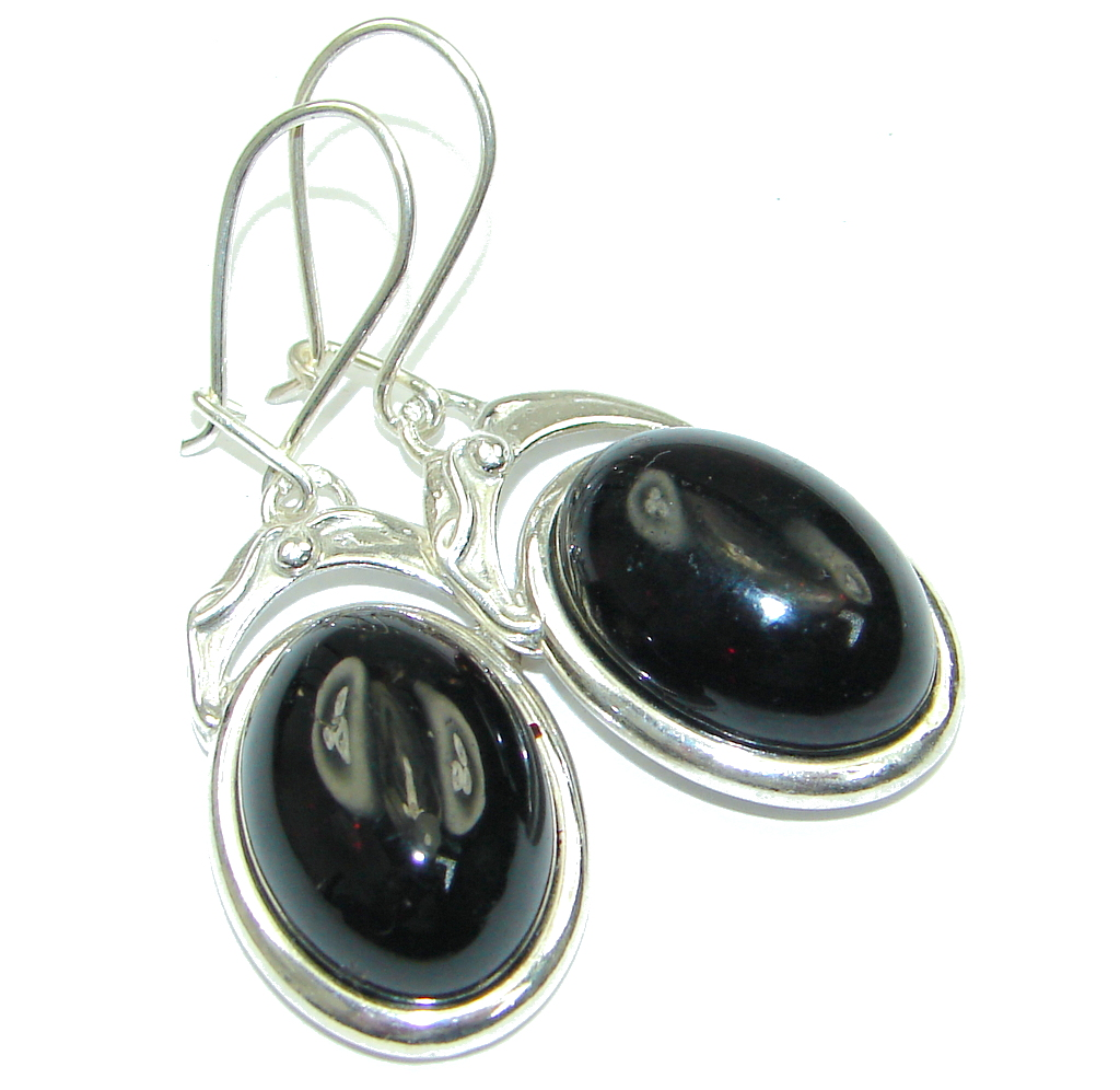 Amazing! Black Onyx Sterling Silver earrings