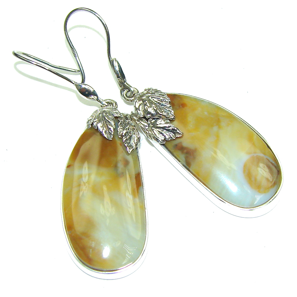 Pure Beauty! Montana Agate Sterling Silver earrings / Long