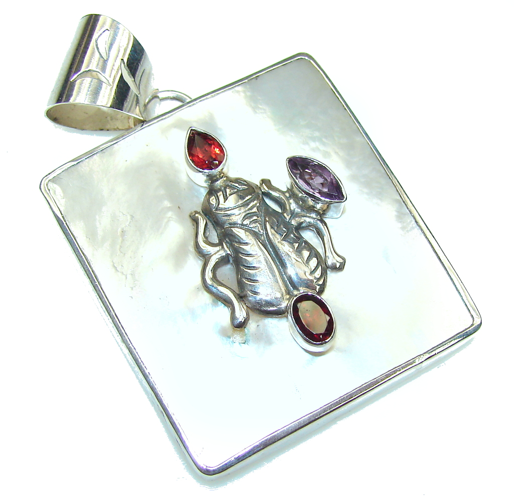 jewelpearl.com Pale Beauty! Blister Pearl Sterling Silver pendant