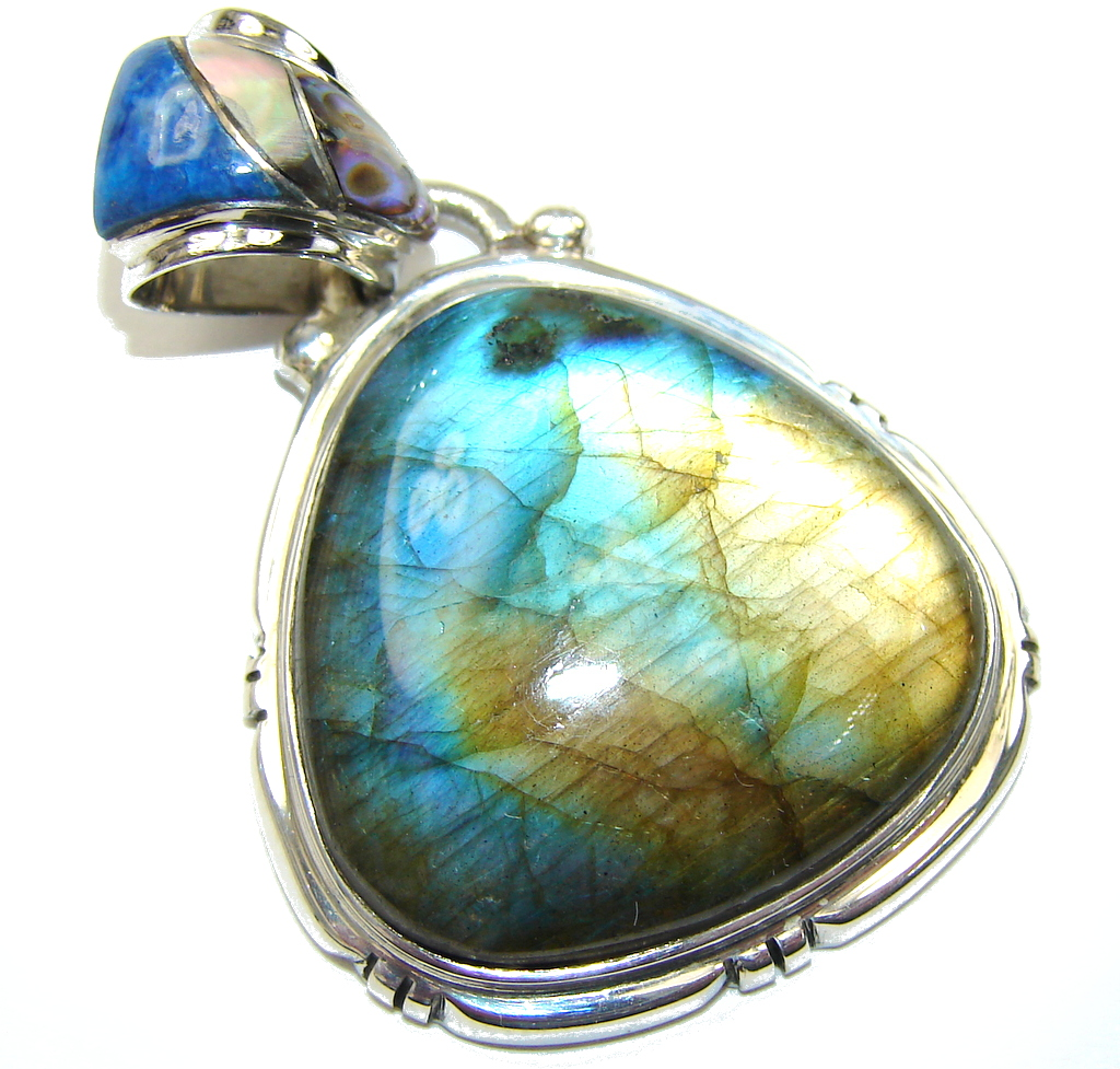 Just Perfect! AAA Blue Labradorite  Sterling Silver Pendant