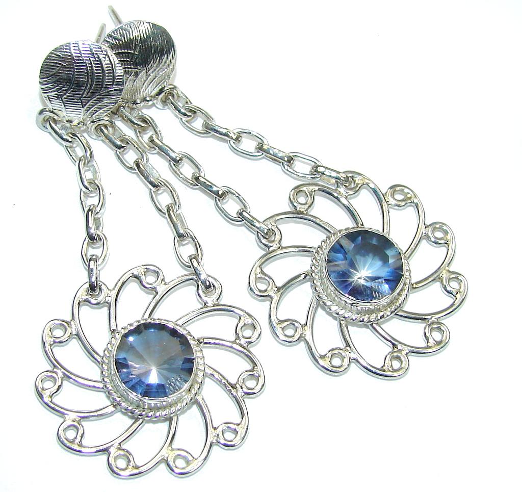 Secret Beauty! Purple Iolite Sterling Silver earrings