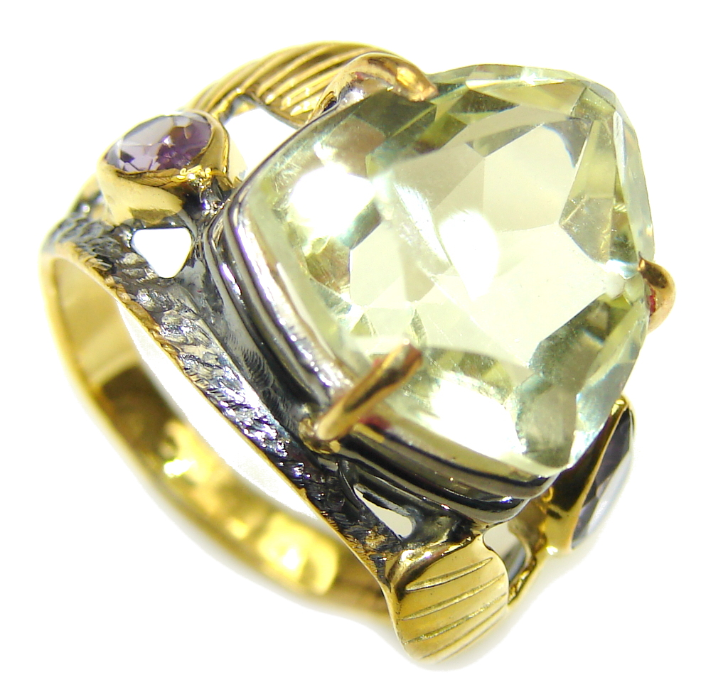 Delicate AAA Citrine & Amethyst, Gold Plated,