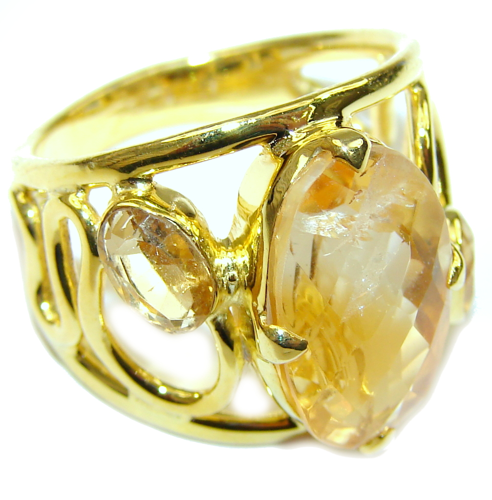 Yellow Aura! AAA Citrine Sterling Silver Ring