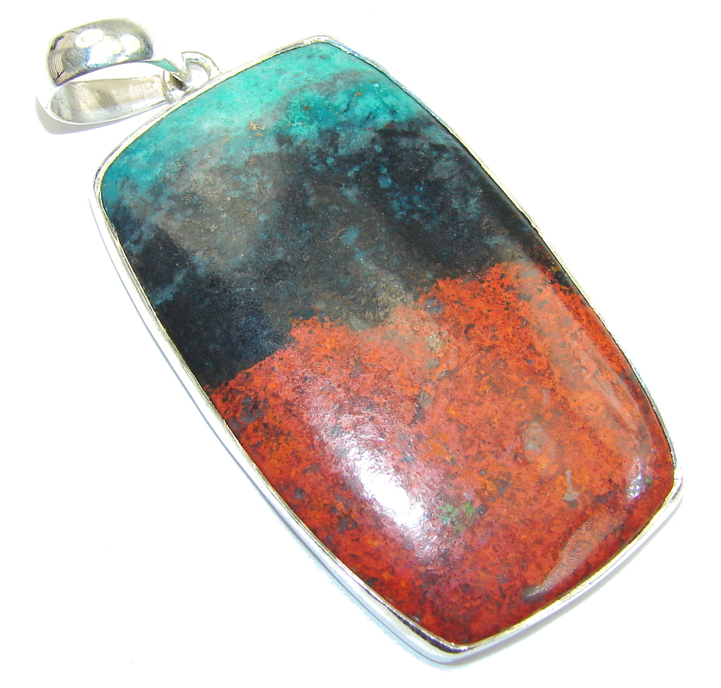 Simple Beauty! AAARed Sonora Jasper Sterling Silver Pendant