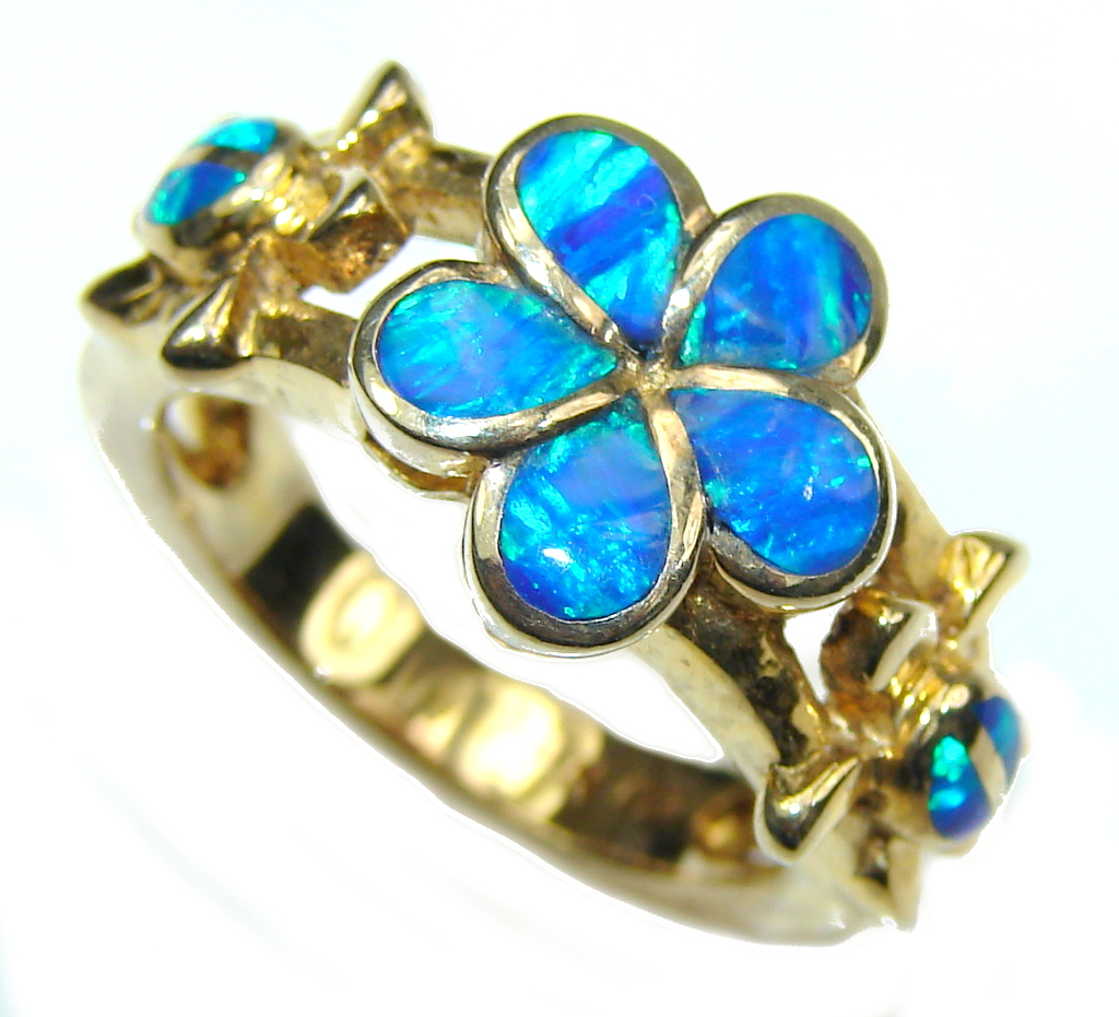 compare beautiful blue opal sterling silver ring s